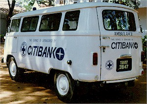 Activities of Blue Cross of India: Operating Ambulance gifted by Citibank